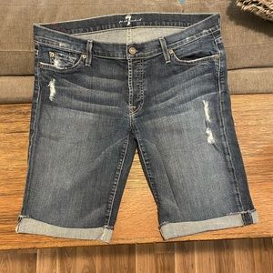 7 for All Mankind Jean Shorts Size 31